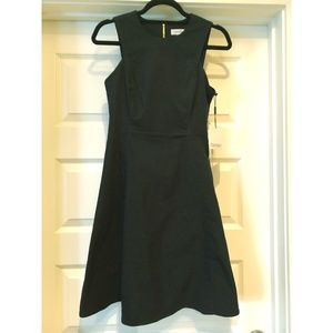 Calvin Klein Navy A-Line Sleeveless Dress